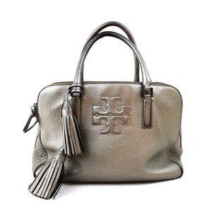 Tory Burch Silver Leather Lange Handbag